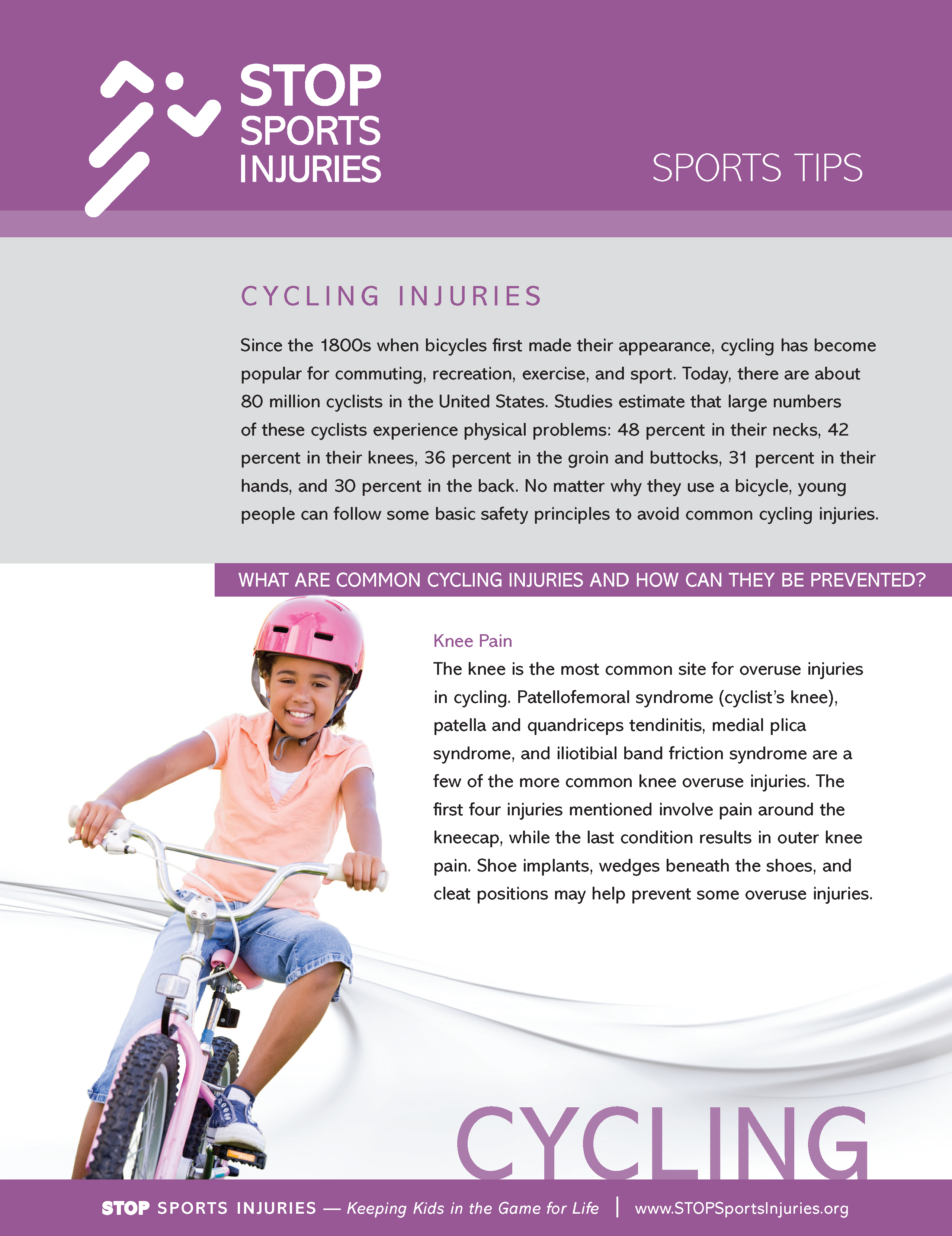 Cycling Injury Prevention